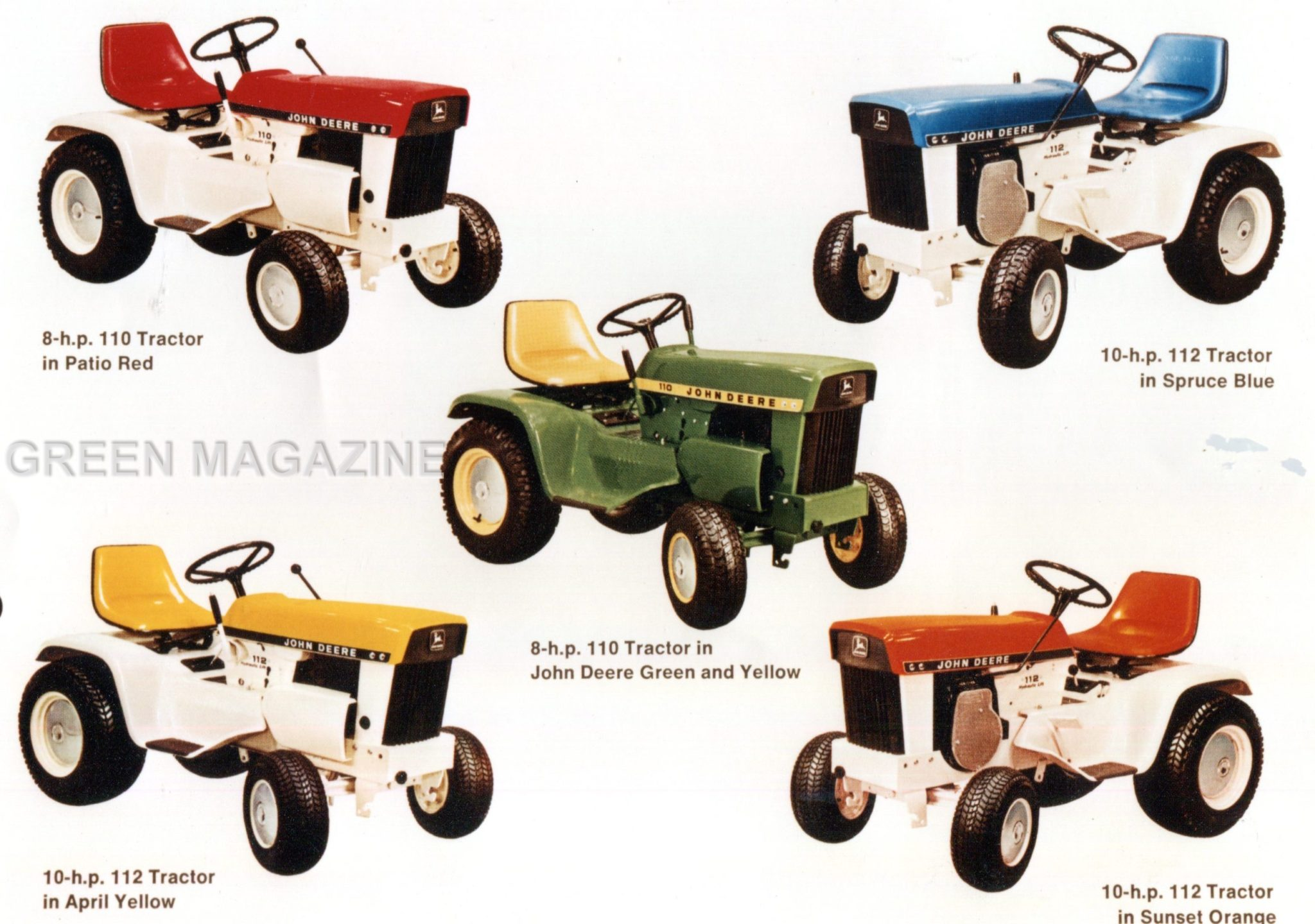 John Deere Custom Color Lawn Tractors Green Magazine