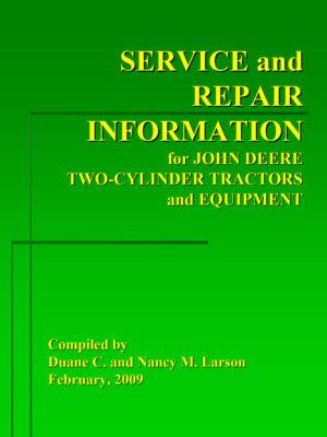 John Deere 2-Cylinder Field Service Bulletins
